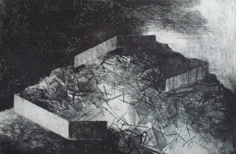 Untitled, 2008, etching.
