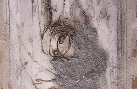 Untitled, mixed media on masonite, 43x28 cm.