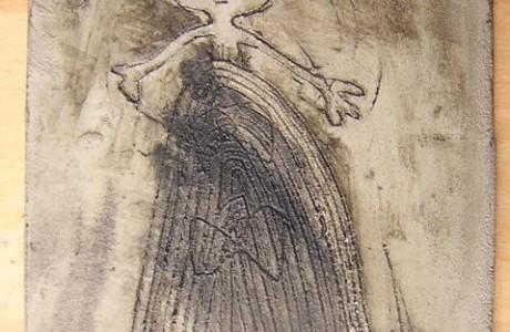 Untitled, mixed media on masonite.