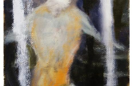 Untitled, 2019, 20X15 cm, oil on cardboard.