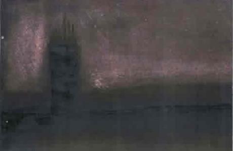 """ללא כותרת, 2011, דיו על נייר, 34x48 ס""""מ."""