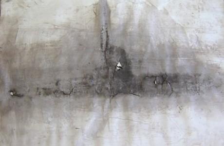 """ללא כותרת, 2011, דיו על נייר, 73x104 ס""""מ."""
