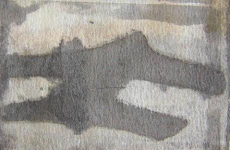 """טיארה, 2011, דיו על לבד, 31x25 ס""""מ."""