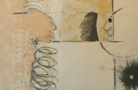 Michael Druks, Untitled, oil on cardboard on canvas, 73x53 cm.