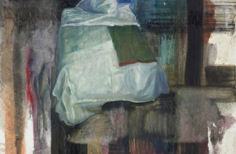 Irmi Adani, 2004, Afternoon, Oil on silk, 50x70 cm.