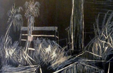 גלעד קידר, ללא כותרת, שמן על עץ