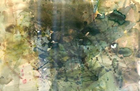 """ללא כותרת, שנות ה-60, צבע מים על נייר, 50x70 ס""""מ."""