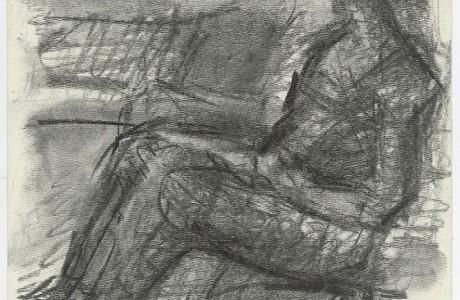 """אנה, 2016, פחם על נייר, 30X20 ס""""מ"""