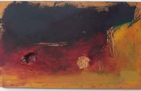 Untitled, 2009, oil on wood, 32x52 cm.