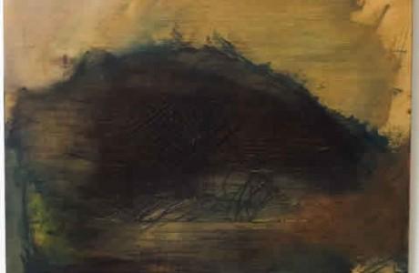 Moon, 2009, oil on wood, 49x50 cm.