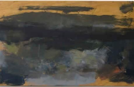 Untitled, 2009, oil on wood, 59x103 cm.