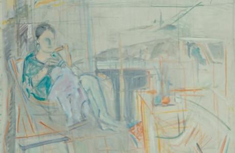 """אורי שטטנר, ללא כותרת, 1989, שמן על בד, 84x74 ס""""מ."""