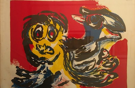 Karel Appel, Untitled, Lithography, 55X75  cm