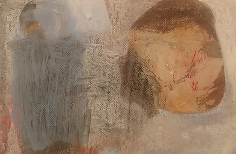 """ללא כותרת, 2017, אקרליק על בד, 20x20 ס""""מ."""