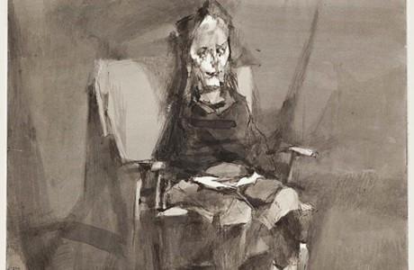 """ללא כותרת, 34x24 ס""""מ, טכניקה מעורבת על נייר, 1992"""