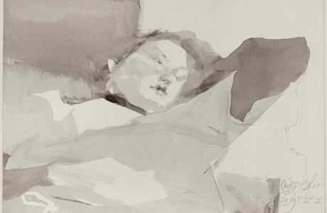"""ללא כותרת, 1977, טכניקה מעורבת על נייר, 34x25 ס""""מ"""