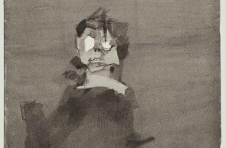 """ללא כותרת, 28x24 ס""""מ, טכניקה מעורבת על נייר, 1991"""