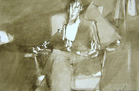 Untitled, 1994, mixed media on paper, 34X26 cm.