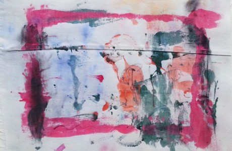 Untitled,  2015, mixed media on fabric, 26X53 cm.