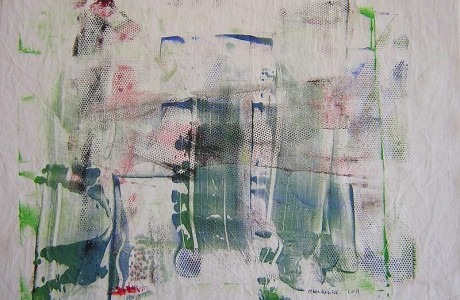 Untitled, mixed media on PVC.