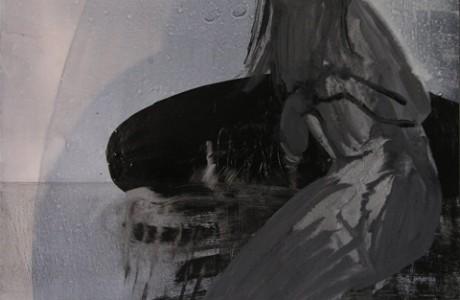 """אמזון, 2010, צבע תעשייתי  על נייר, 43X41 ס""""מ."""