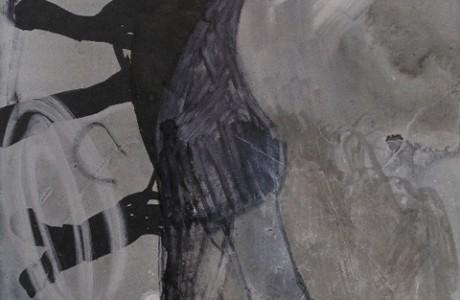"""קשת מזויין, 30x26 ס""""מ, טכניקה מעורבת על נייר, 2010"""
