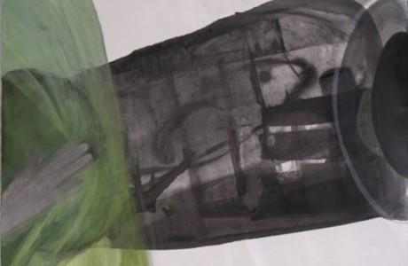 """לחשוף את מקס, 2013, טכניקה מעורבת על נייר, 49x69 ס""""מ."""