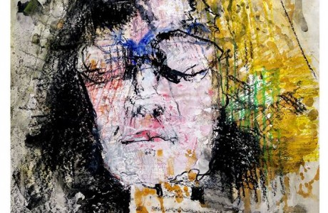 Hannah Levy, Self-Portrait, 1980, mixed media on paper