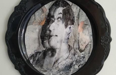 Untitled, 2020, 22 cm diameter, collage
