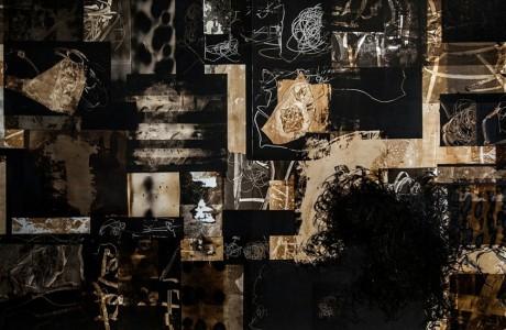 Untitled, 2016, Mixed media on aluminum, 100X160 cm
