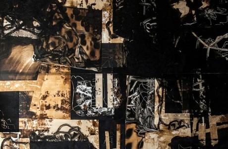 Untitled, 2016, Mixed media on aluminum, 200X160 cm
