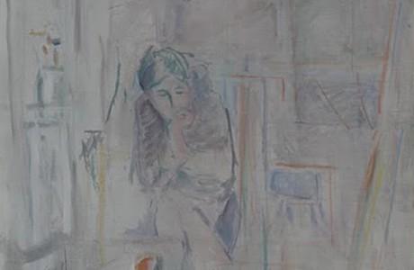 """ללא כותרת, 1989, שמן על בד, 83x74 ס""""מ."""
