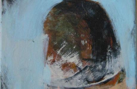 """איריס נדל, ללא כותרת, 2012, שמן על בד, 20x20 ס""""מ."""