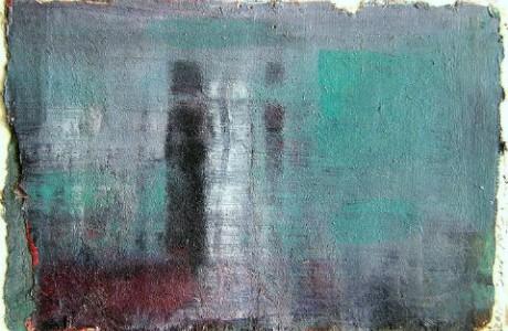 """ירמי עדני, ללא כותרת, 2012, שמן על בד מוצמד לקרטון, 12x16 ס""""מ."""
