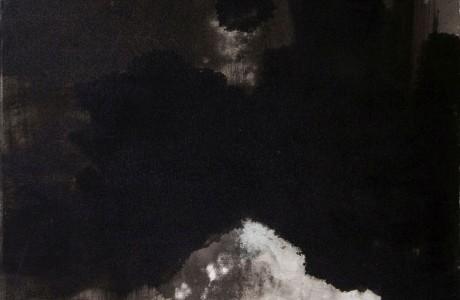 """יואב היינבך, ללא כותרת, 2013, דיו על בד, 70X70 ס""""מ"""