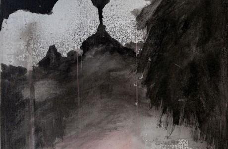"""ללא כותרת, 2012, טכניקה מעורבת על בד, 60X60 ס""""מ"""