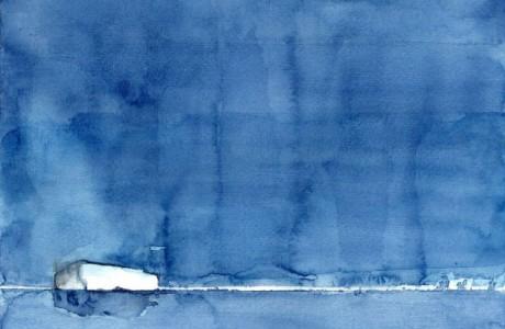 """ללא כותרת, 2014, צבע מים על נייר, 39X27 ס""""מ"""