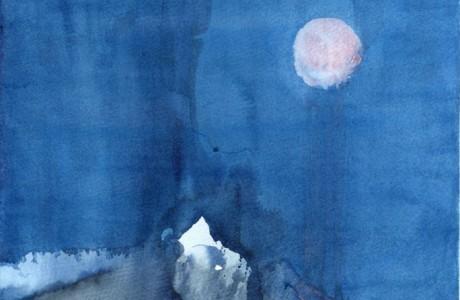 """ללא כותרת, 2016, צבע מים על נייר, 40X30 ס""""מ"""