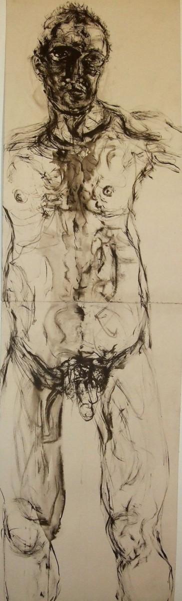 """ללא כותרת, 141x39 ס""""מ, דיו על נייר, 2014"""