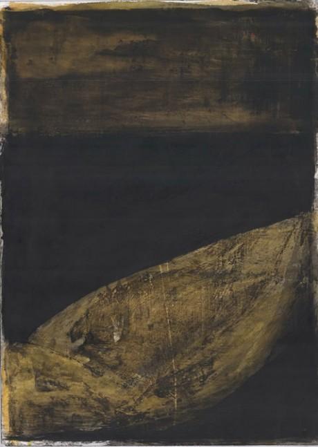 """ללא כותרת, 98x70 ס""""מ, דיו וצבע מים על נייר, 2011"""
