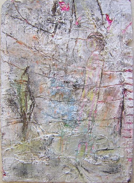 """לא כותרת, 25x18 ס""""מ, טכניקה מעורבת על נייר, 2009"""