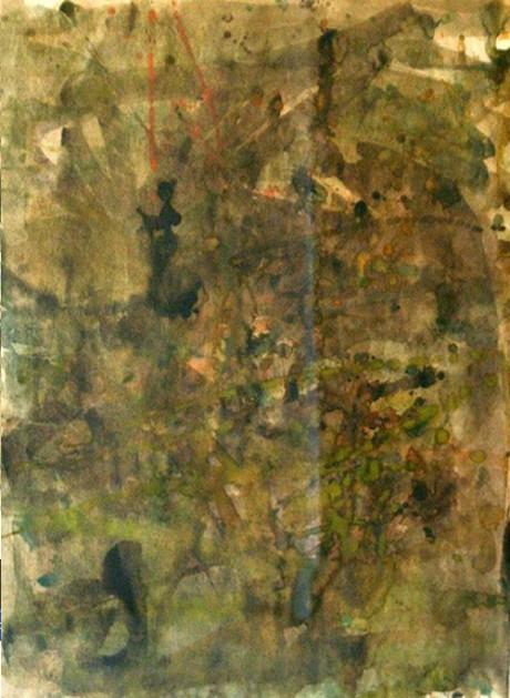 """ללא כותרת, 70x50 ס""""מ, צבע מים על נייר, שנות ה-60"""