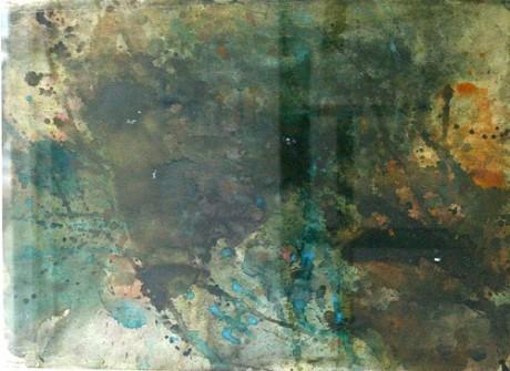 """ללא כותרת, 50x70 ס""""מ, צבע מים על נייר, שנות ה-60"""