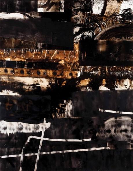 """מחלף שפירים, 103X80 ס""""מ, שמן על אלומיניום, 2014"""