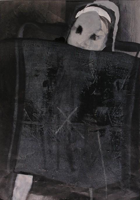 שמיכה שחורה, 29X41 ס